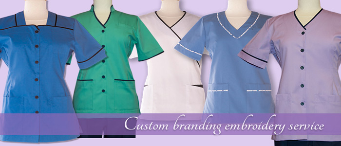 Laceys workwear with custom embroidery